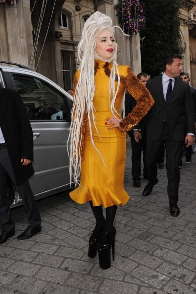 Lady Gaga à Londres, le 9 décembre 2013.