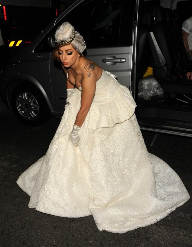 Lady Gaga à Londres, le 9 septembre 2012.