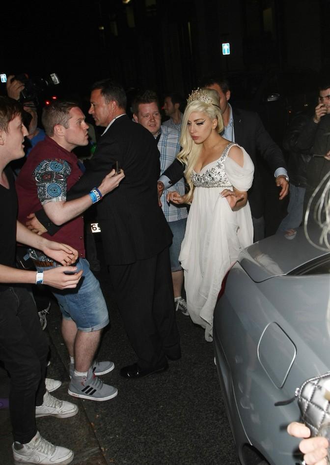 Lady Gaga à Londres le 8 septembre 2012