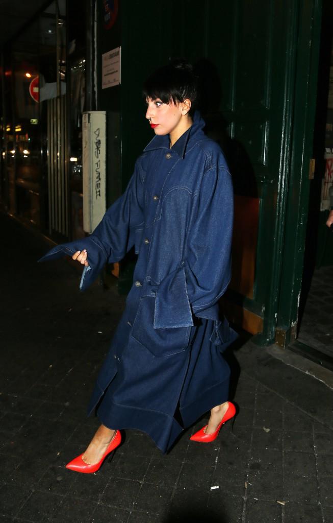 Lady Gaga à Paris le 23 novembre 2014