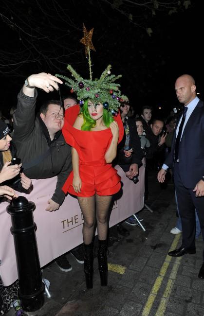 Lady Gaga à Londres, le 8 décembre 2013.
