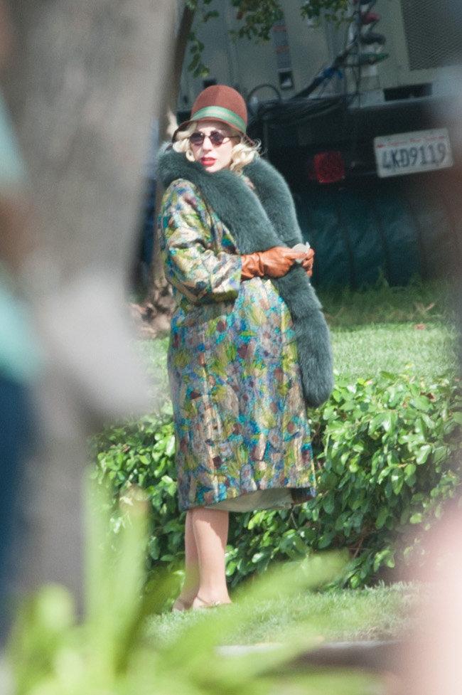 Lady Gaga en tournage à Pasadena le 14 octobre 2015