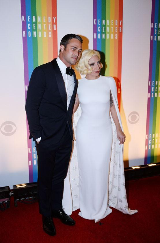 Lady Gaga et Taylor Kinney à Washington le 7 décembre 2014