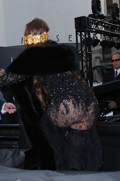 Lady Gaga se rendant à la soirée de lancement de son parfum Fame à New York, le 13 septembre 2012.