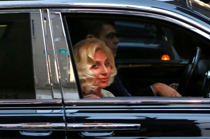 Lady Gaga à New York le 17 décembre 2014