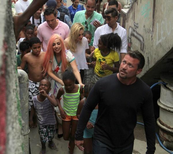 Lady Gaga le 8 novembre 2012 à Rio de Janeiro