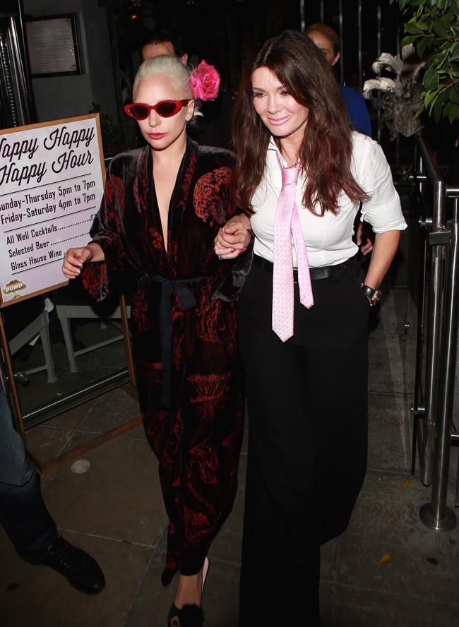 Lady Gaga et Lisa Vanderpump à Los Angeles le 12 août 2015