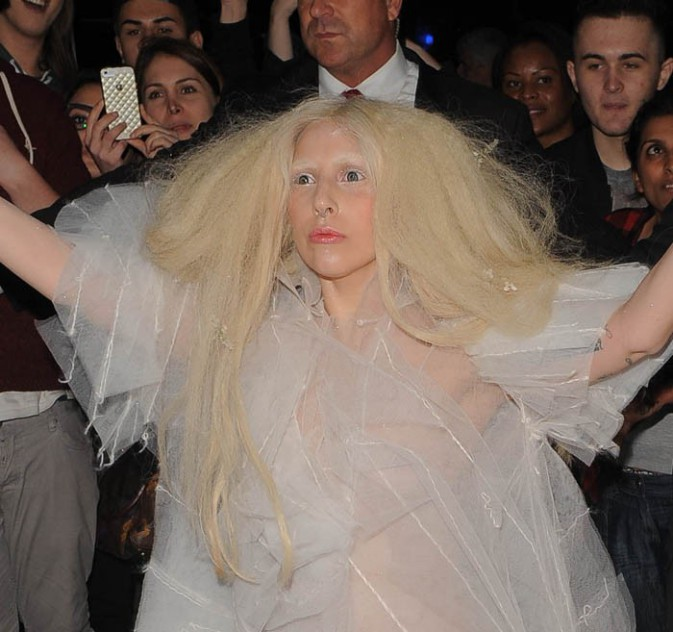 Lady Gaga à Londres le 25 octobre 2013