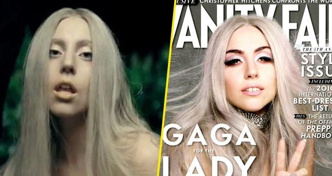 Lady Gaga, dans le clip Yoü and I et sur la Une de Vanity Fair