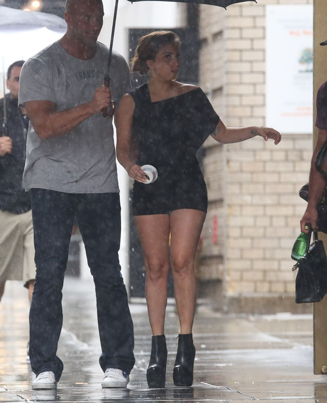 Lady Gaga avec son boyfriend Taylor Kinney à New-York le 10 juin 2013