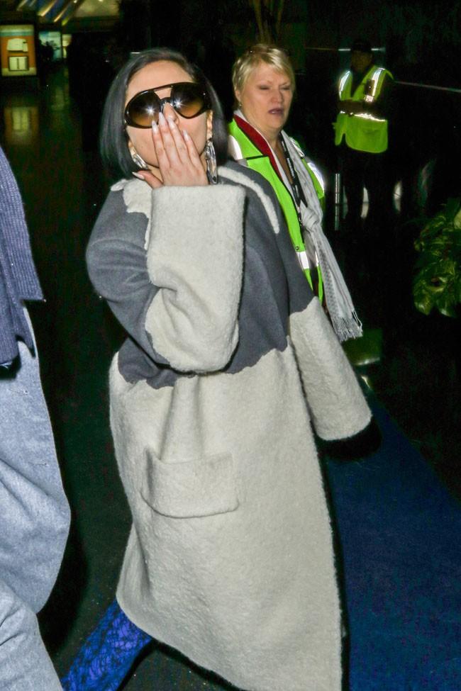 Lady Gaga à l'aéroport JFK le 17 février 2015