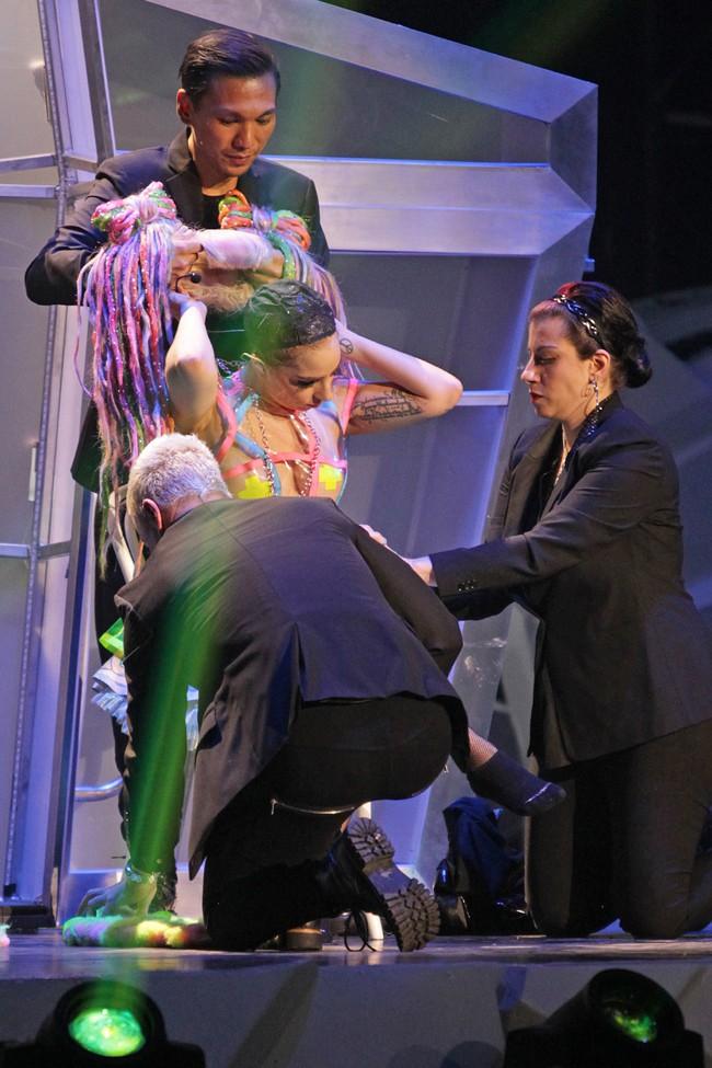 Lady Gaga en concert à Winnipeg, au Canada, le 22 mai 2014