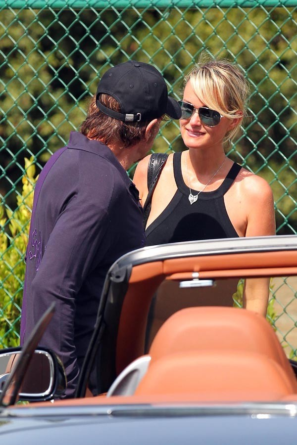 Laeticia et Johnny Hallyday à Los Angeles le 10 septembre 2012