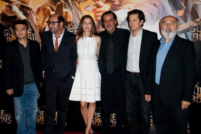 Avec l'équipe du film...
