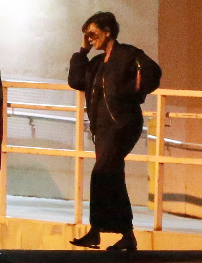 Kris Jenner à la sortie de l'hôpital de Las Vegas le 14 octobre 2015