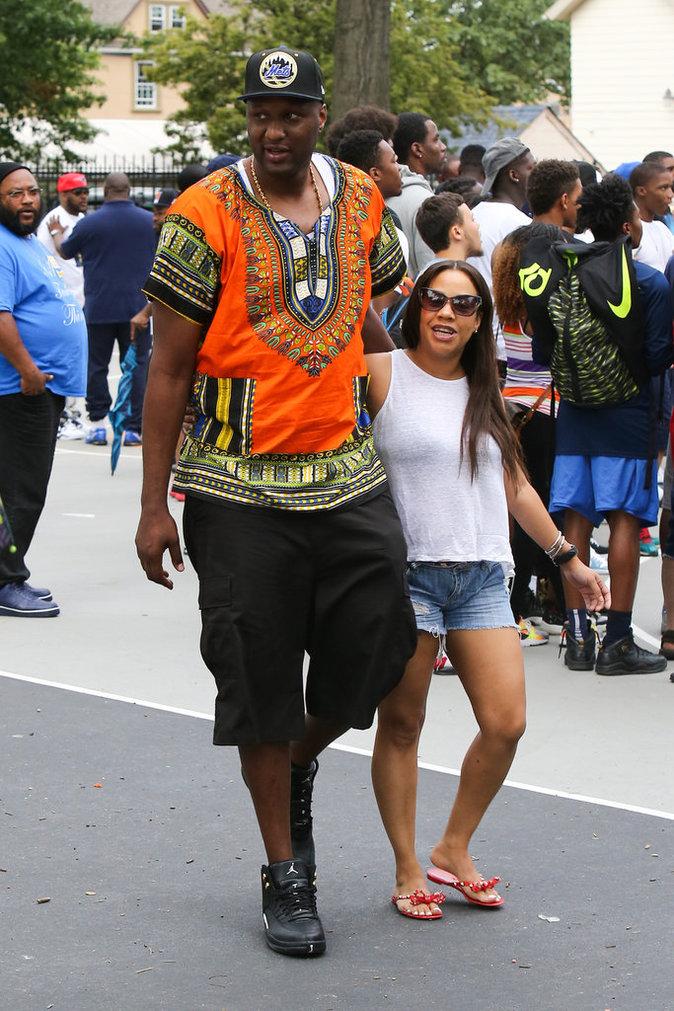 Lamar Odom à New York le 14 juillet