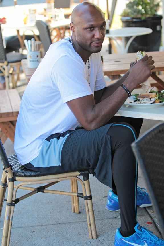 Lamar Odom à Sherman Oaks le 21 octobre 2013