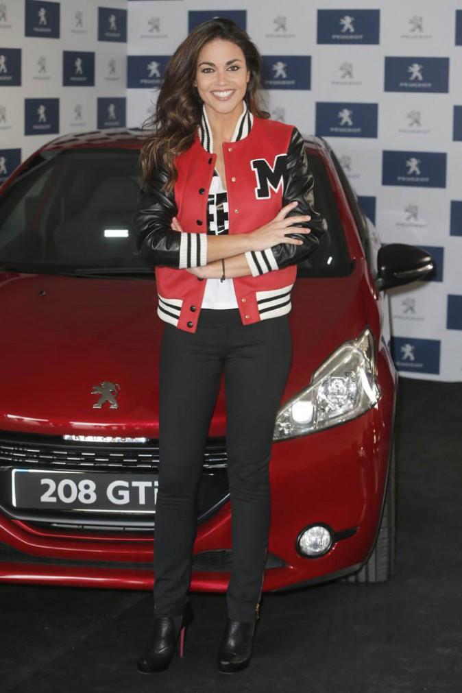 Lara Alvarez en promotion pour Peugeot à Madrid le 20 janvier 2015