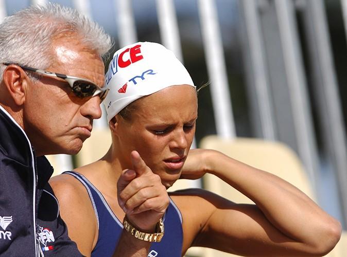 Juin 2007 : après sa rutpure avec Philippe Lucas, la voici en compagnie de son entraîneur italien, Paolo Penso