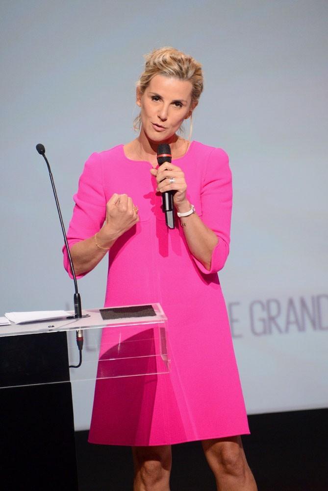 Laurence Ferrari à la conférence de presse de D8 à Paris le 20 septembre 2012