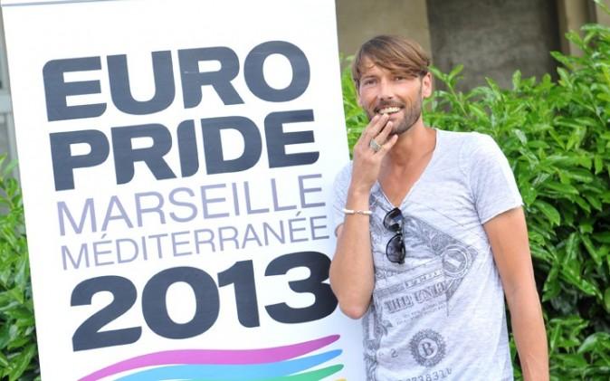 Laurent Kérusoré à la conférence de presse de l'Europride 2013 à Paris le 6 juin 2013