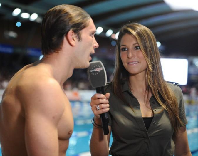 Laury Thilleman interviewe le nageur Clement Lefert