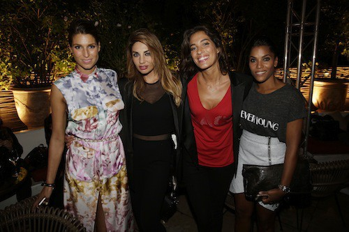 Laury Thilleman, Ariane Brodier, Laurie Cholewa et Audrey Chauveau,  à la soirée Make Up For Ever le 24 septembre 2014 !