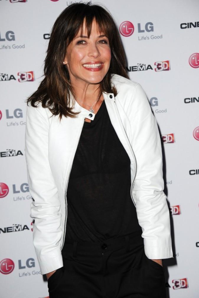 Sophie Marceau lors de la soirée LG à Paris, le 21 avril 2011.