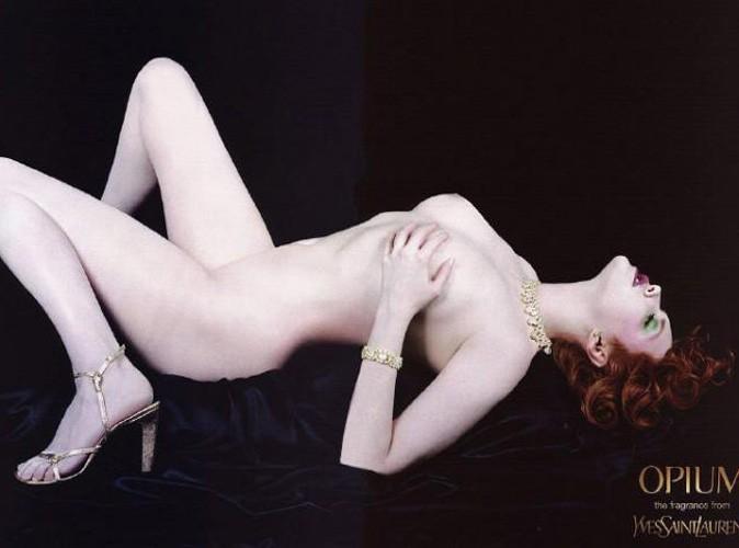 Sophie Dahl's  pose nue pour Opium !