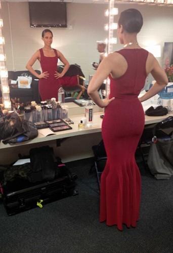 Alicia Keys en backstage avant son concert !