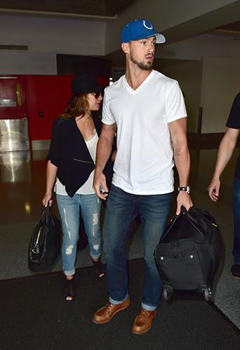 Lea Michele et Matthew Paetz à Los Angeles le 15 juillet 2014