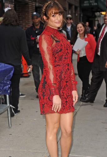 Lea Michele à New York le 15 mai 2014