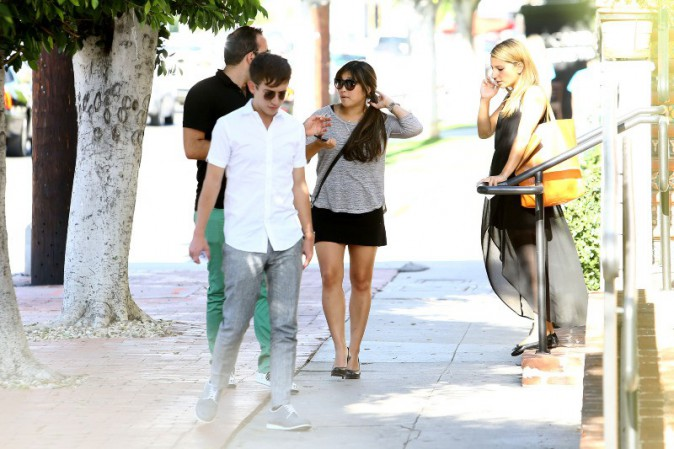 Le casting de la série Glee à West Hollywood, le 25 juillet 2013.