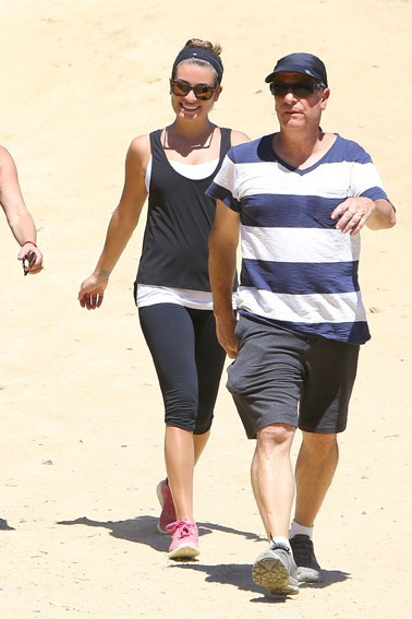 Lea Michele avec son papa à Los Angeles le 2 septembre 2014
