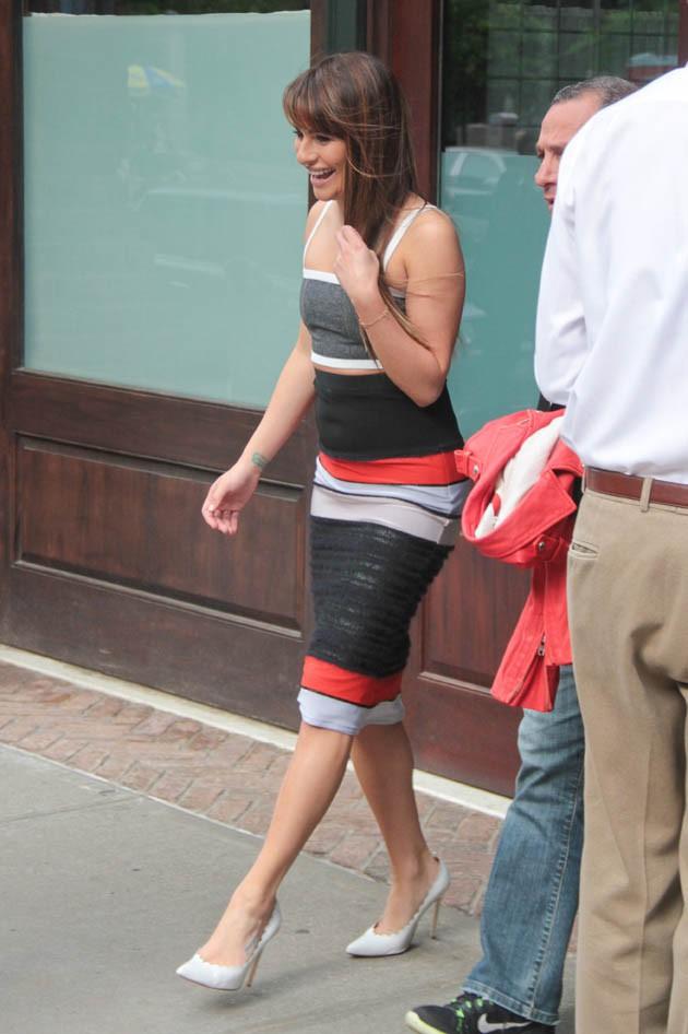 Lea Michele à New-York le 21 mai 2014