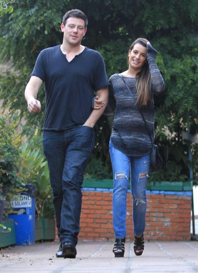 Cory Monteith et Lea Michele à Los Angeles, le 9 juillet 2012.