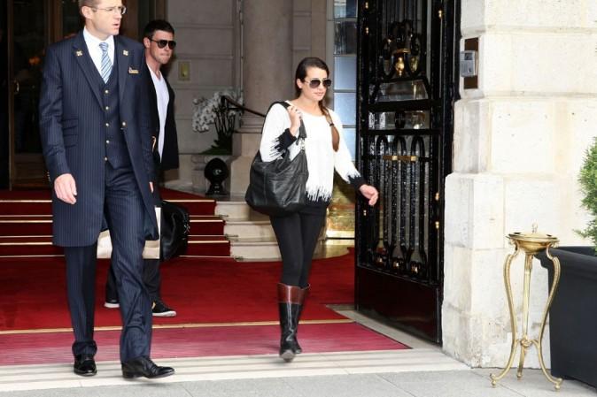 Lea Michele et Cory Monteith le 3 juillet 2012 à Paris