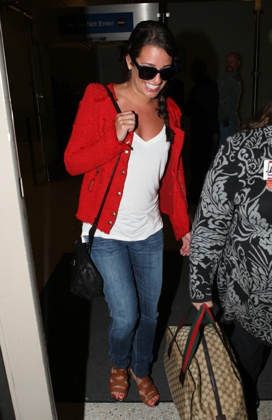 Lea Michele, back to LA !