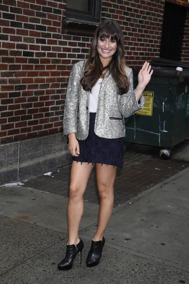 Lea Michele au David Letterman Show le 21 mai 2012