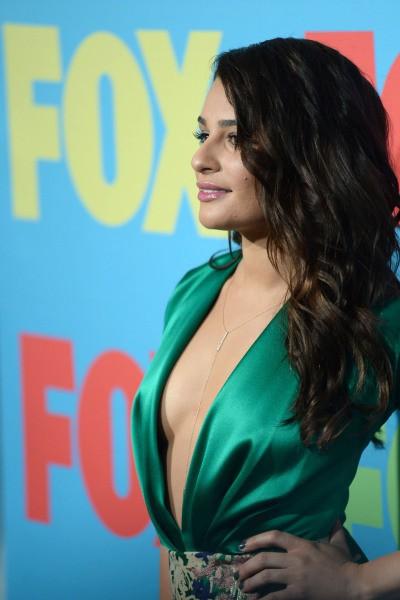 """Lea Michele lors de l'événement """" Fox FanFront Presentation Event"""" à New York, le 12 mai 2014."""