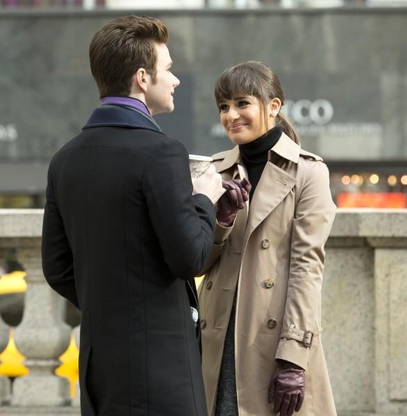 Lea Michele et Chris Colfer le 18 novembre 2012 à New York