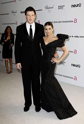 Lea et Cory lors d'un gala de charité en mars 2010. Les deux amis sont très proches !