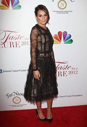 Lea Michele, lors d'un gala de charité en avril 2012