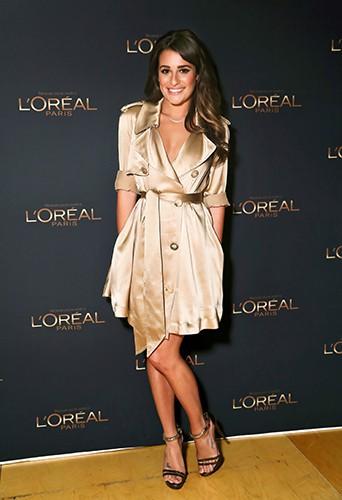 Lea Michele, nouvelle égérie L'Oréal en septembre 2012