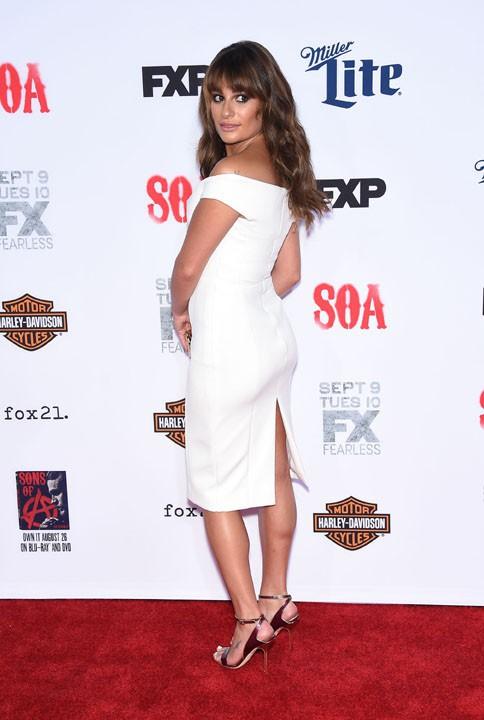 """Lea Michele à la soirée """"Sons of Anarchy"""" organisée le 6 septembre 2014 à Hollywood"""