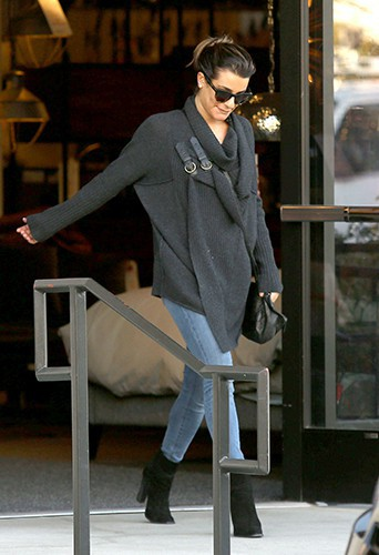 Lea Michele à Los Angeles le 8 janvier 2014