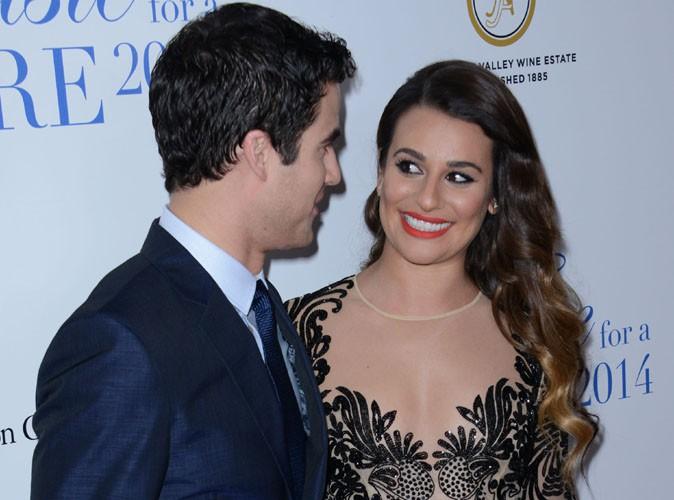Lea Michele : tapis rouge complice avec sa co-star de Glee, Darren Criss !