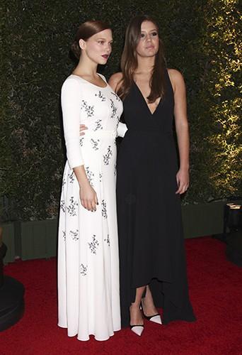 Léa Seydoux et Adèle Exarchopoulos à Los Angeles le 16 novembre 2013