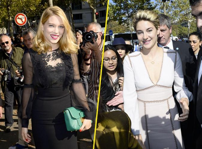 Photos : Léa Seydoux : icône chic aux côtés de Shailene Woodley pour le défilé Miu Miu !
