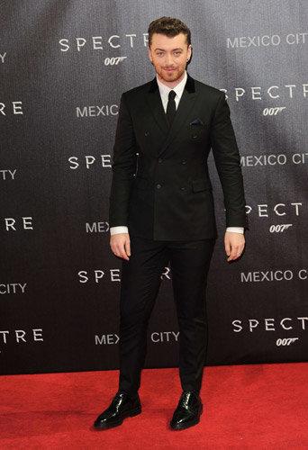Sam Smith à l'avant-première de Spectre à Mexico, le 2 novembre 2015